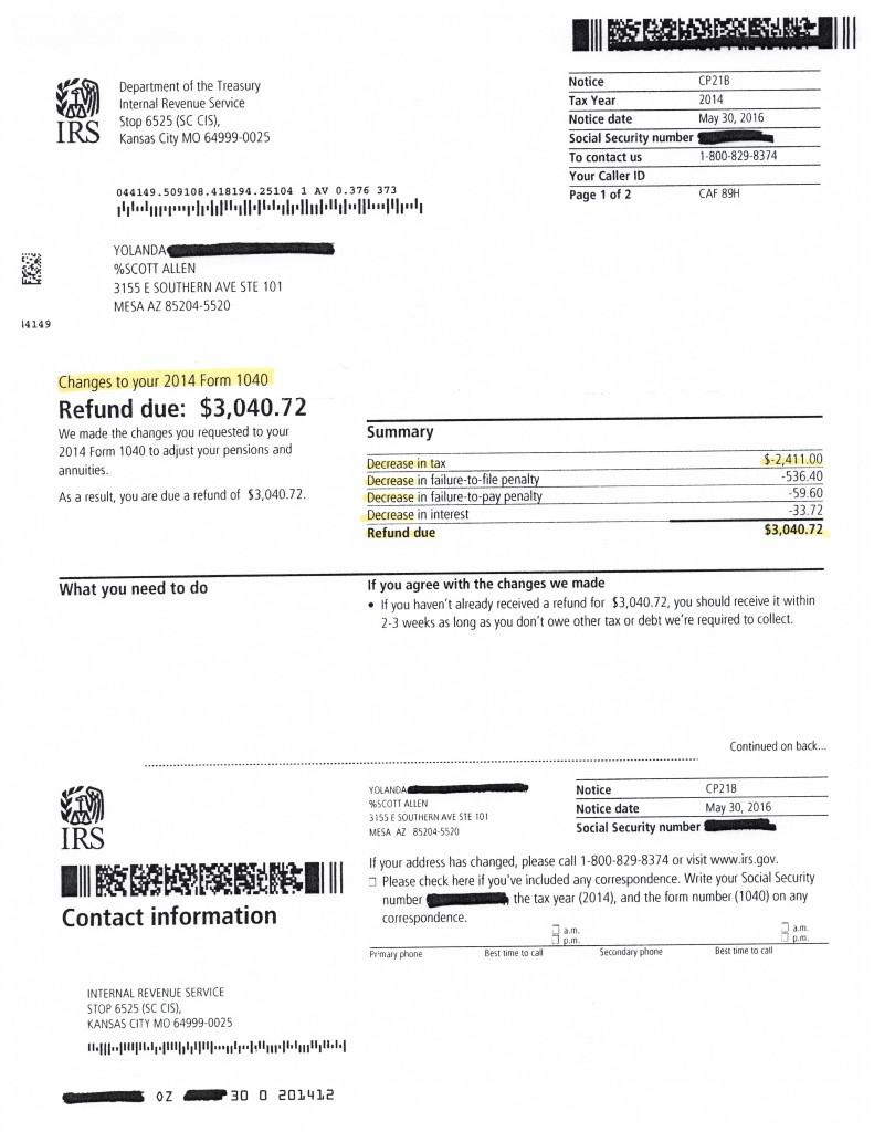 Mesa Az Irs Cp2000 Audit Tax Debt Advisors Inc