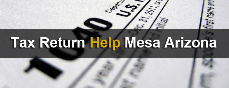 Tax Return Help Mesa Arizona