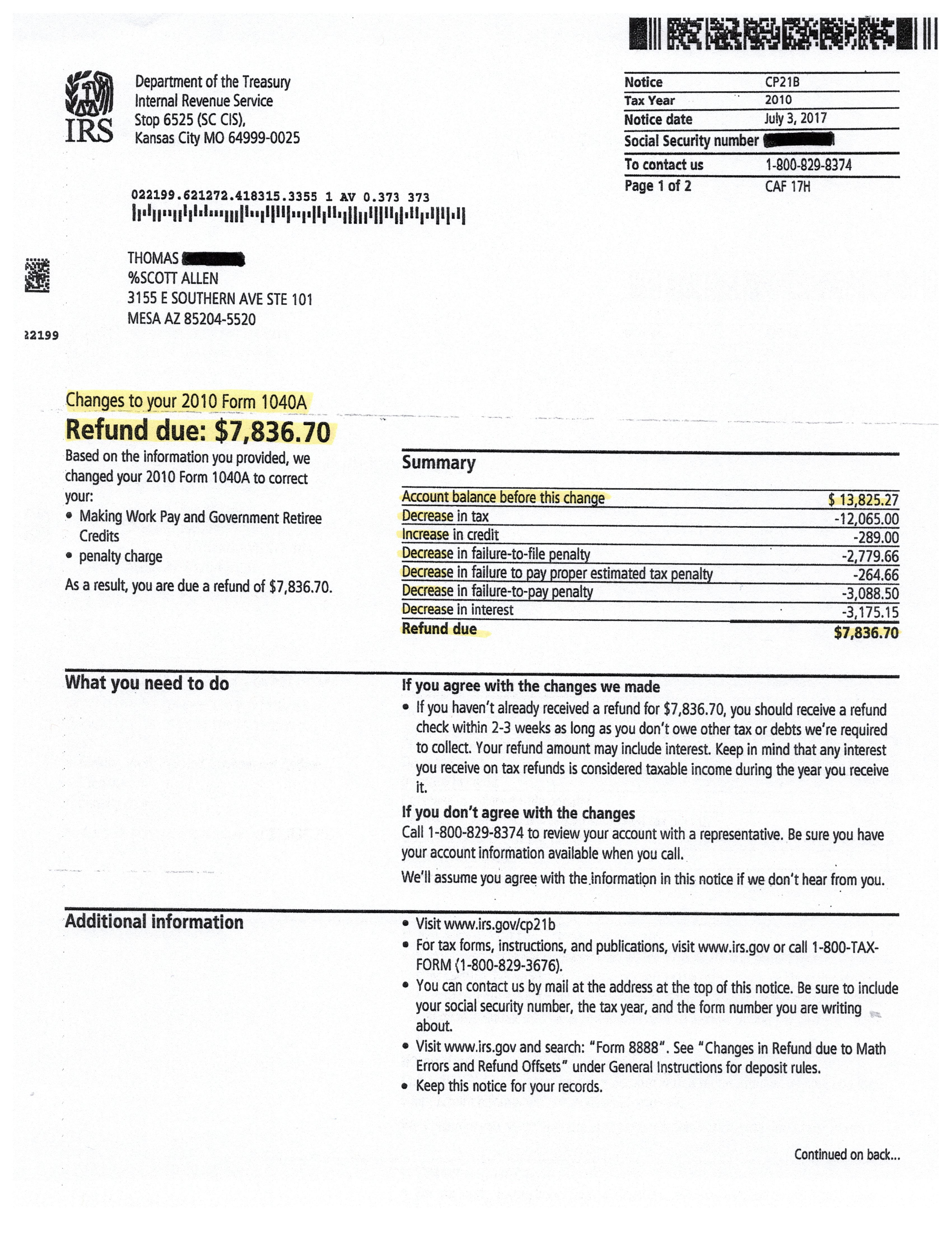 Phoenix AZ IRS Tax Debt